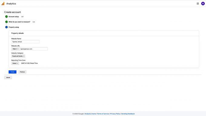 google analytics tworzenie konta 3 scaled
