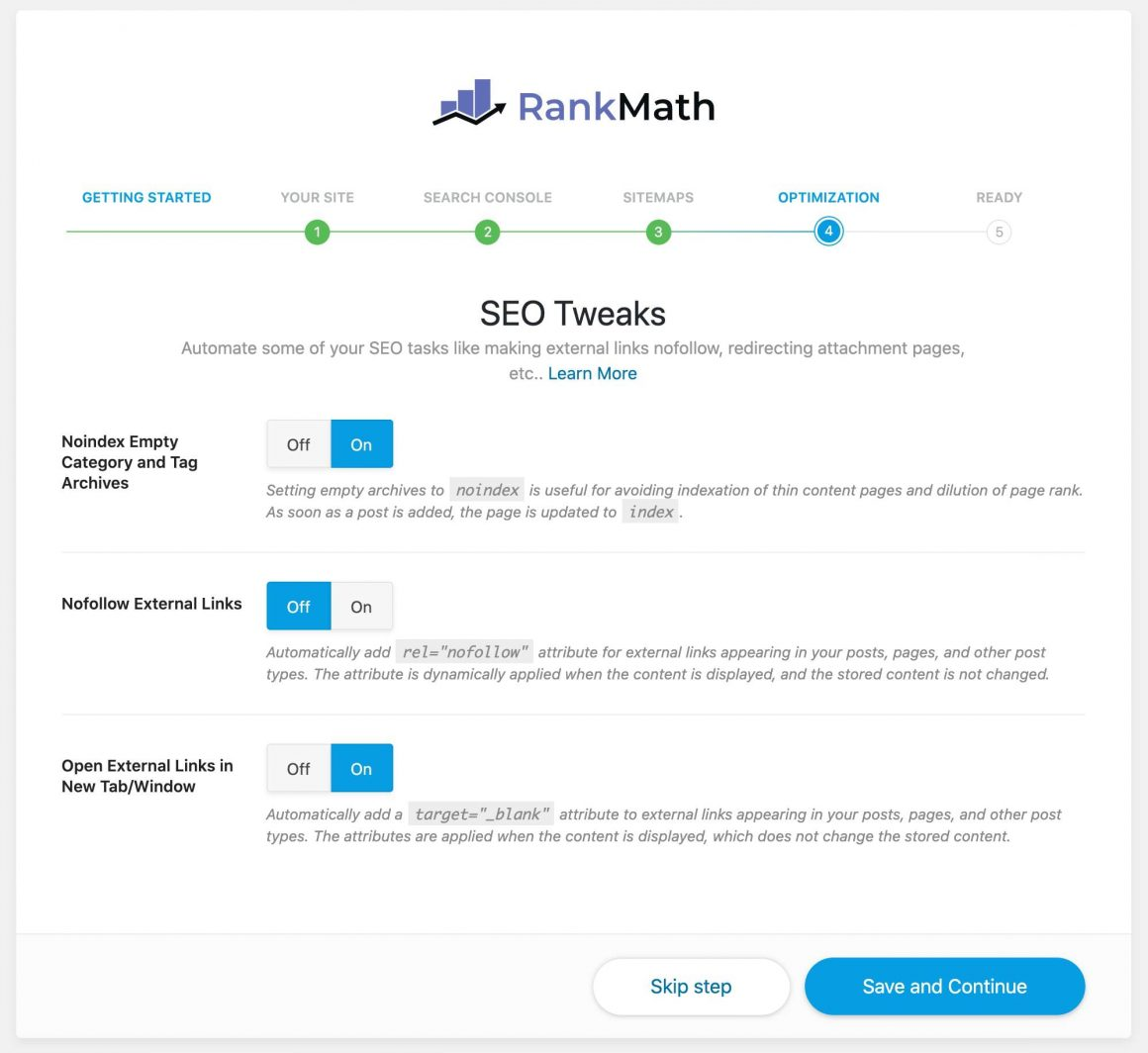 rankmath optimization