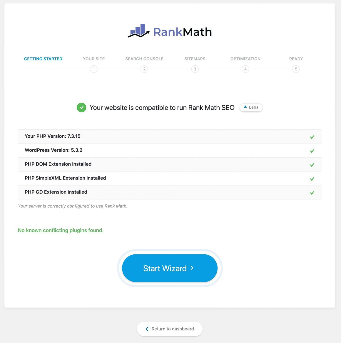 Rank math konfigurator