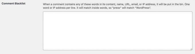 czarna lista slow spam wordpress