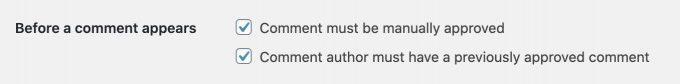 reczne zatwierdzanie komentarzy wordpress