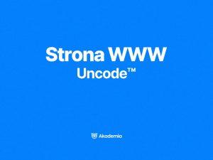 Kurs online strona www uncode
