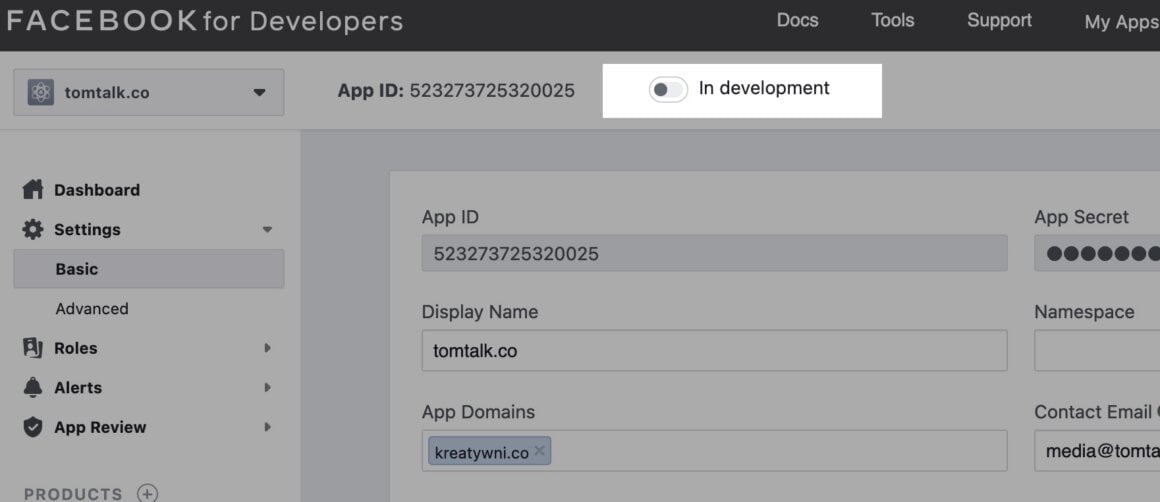 fb app development